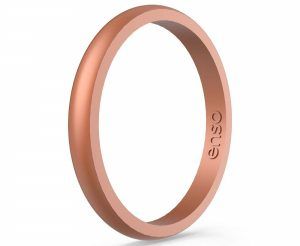 Enso Rings Halo Elements Silicone Ring | Made in The USA | Infused with Precious Elements | Lifetime Quality Guarantee | Comfortable, Breathable, and Safe