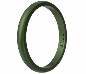 Enso Rings Halo Legend Silicone Ring | Made in The USA | Lifetime Quality Guarantee | an Ultra Comfortable, Breathable, and Safe Silicone Ring
