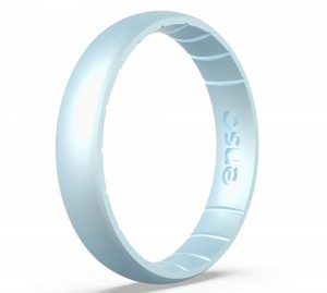 Enso Rings Thin Birthstone Silicone Ring | Made in The USA | Lifetime Quality Guarantee | Comfortable, Breathable, and Safe