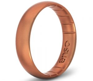 Enso Rings Thin Elements Silicone Ring | Made in The USA | Infused with Precious Elements | Lifetime Quality Guarantee | Comfortable, Breathable, and Safe