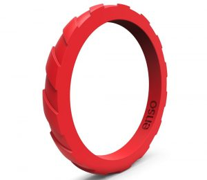 Enso Rings Treaded Stackable Silicone Ring | Premium Fashion Forward Silicone Ring | Hypoallergenic Medical Grade Silicone | Lifetime Quality Guarantee | Commit to What You Love