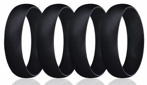ROQ Silicone Wedding Ring for Men and Women, 6mm Beveled Polished Edges