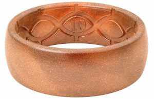 Groove Life - Silicone Ring for Men and for Women Wedding Original Metallics