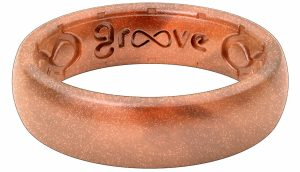 Groove Life - Silicone Ring for Men and for Women Wedding Thin Metallic