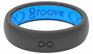 Groove Life - Silicone Ring for Men and for Women Wedding Thin Solid