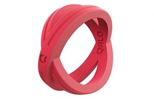 QALO Women's Functional Silicone Rings with Ring Storage Pouch