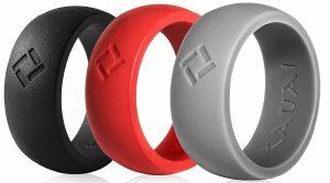 KAUAI Silicone Wedding Rings 3 Pack, Leading Edge Pro Athletic